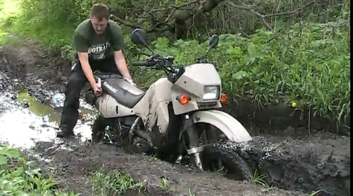 klr650 stuck in mud
